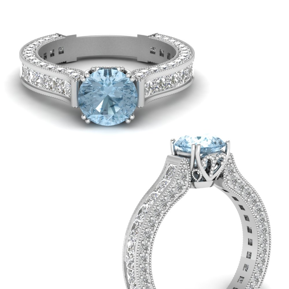 98069a1418b95 Vintage Colored Stone Engagement Ring
