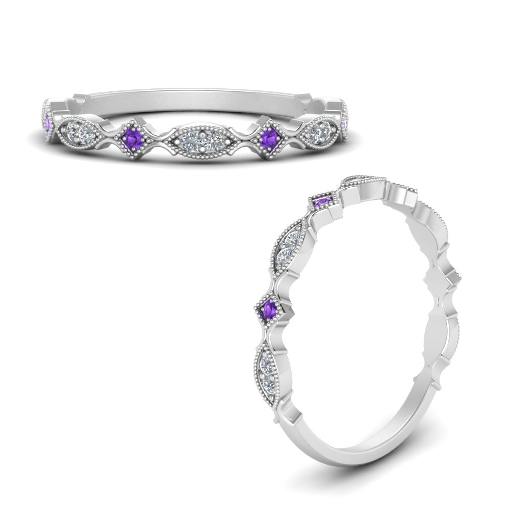 vintage-delicate-diamond-stacking-rings-with-purple-topaz-in-FDWB5392GVITOANGLE3-NL-WG