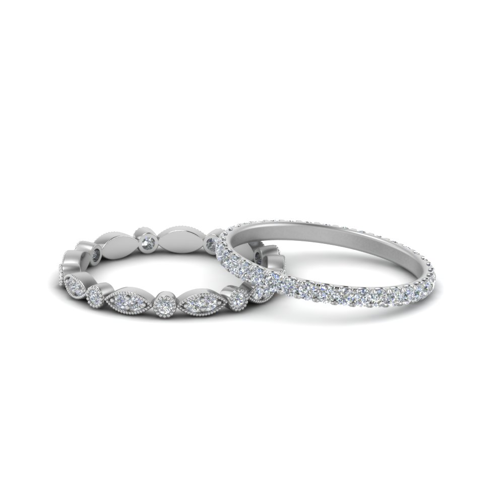 Stackable Wedding Ring For Couples