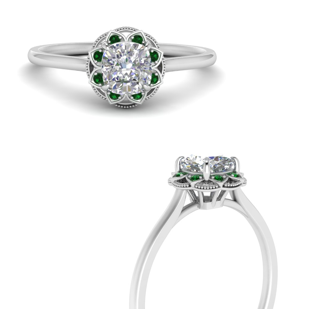 vintage-flower-halo-cushion-emerald-engagement-ring-in-FD124282CURGEMGRANGLE3-NL-WG