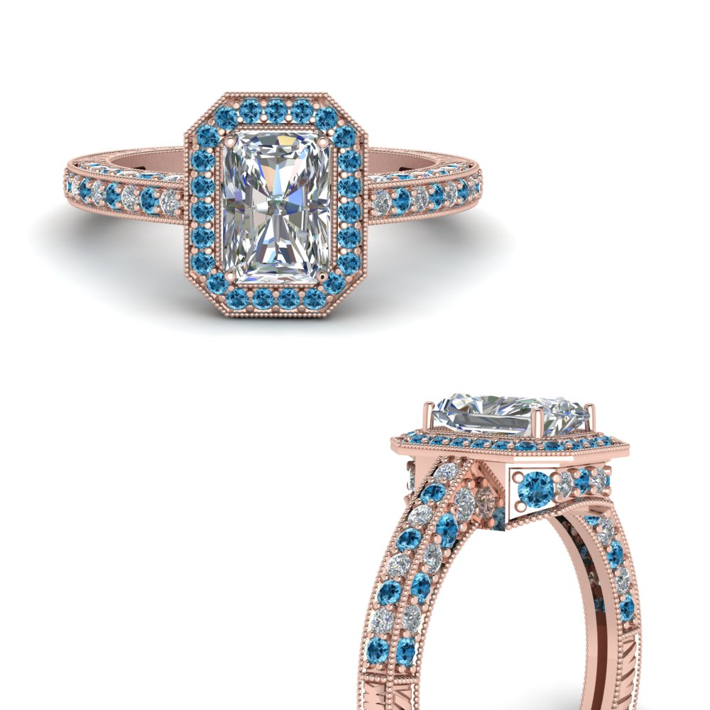 vintage-halo-radiant-cut-diamond-engagement-ring-with-blue-topaz-in-FDENR6543RARGICBLTOANGLE3-NL-RG.jpg