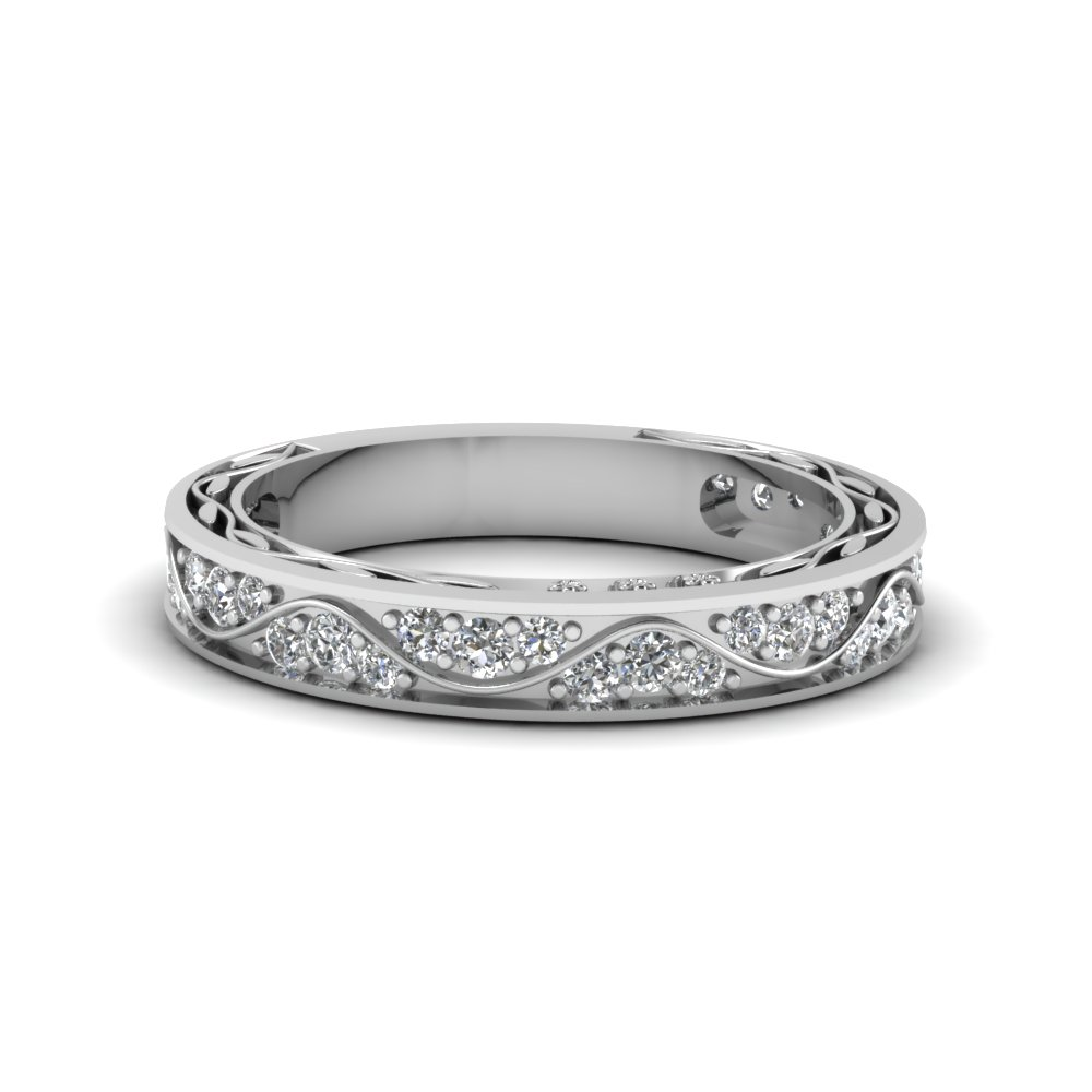 14k White Gold Women Diamond Wedding Ring