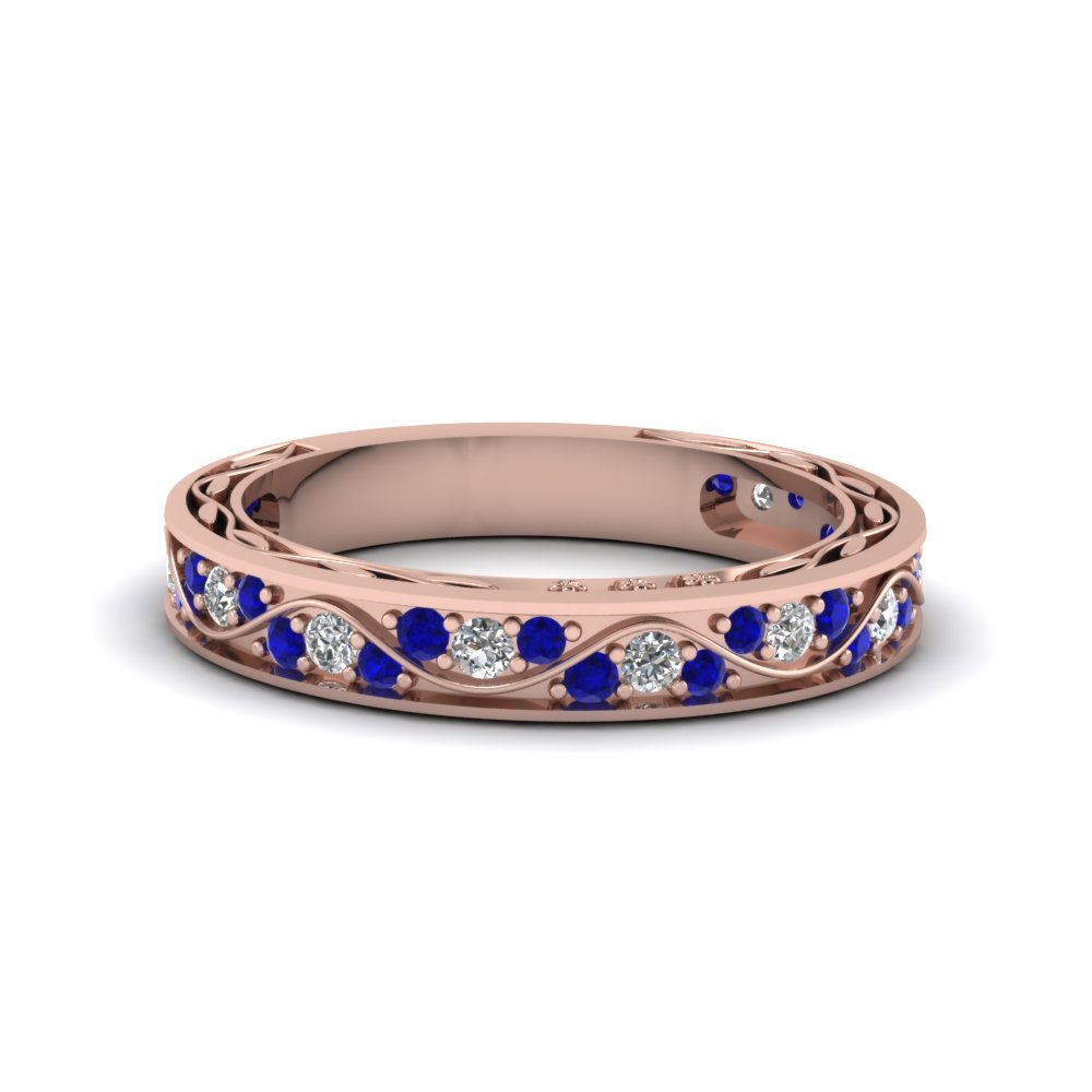 Get Mesmerized By Eternal Blue Sapphire Wedding Rings Fascinating