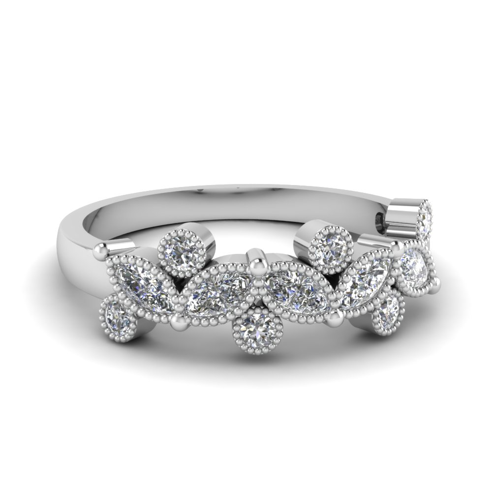 Vintage Round and Marquise Diamond Band