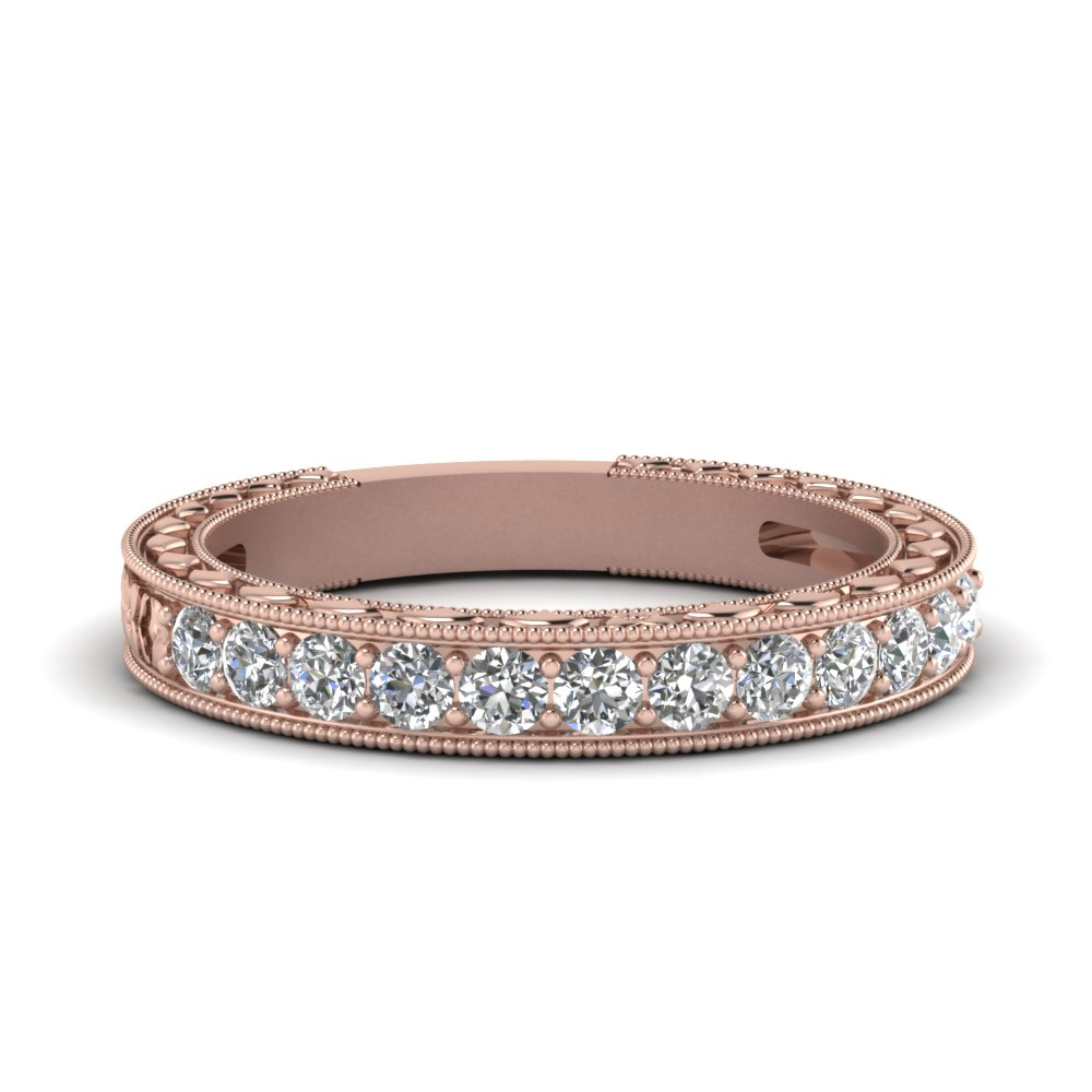 Floral Pave Diamond Band