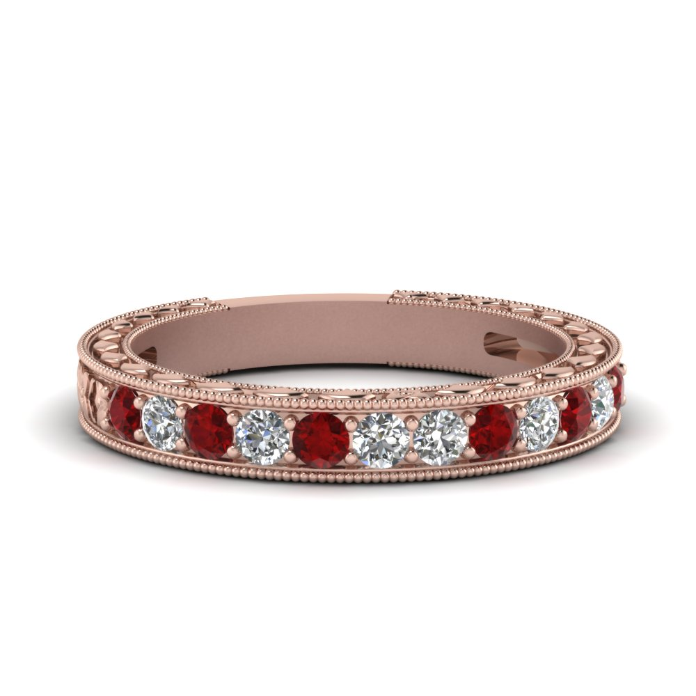 Flower Pave Diamond Band
