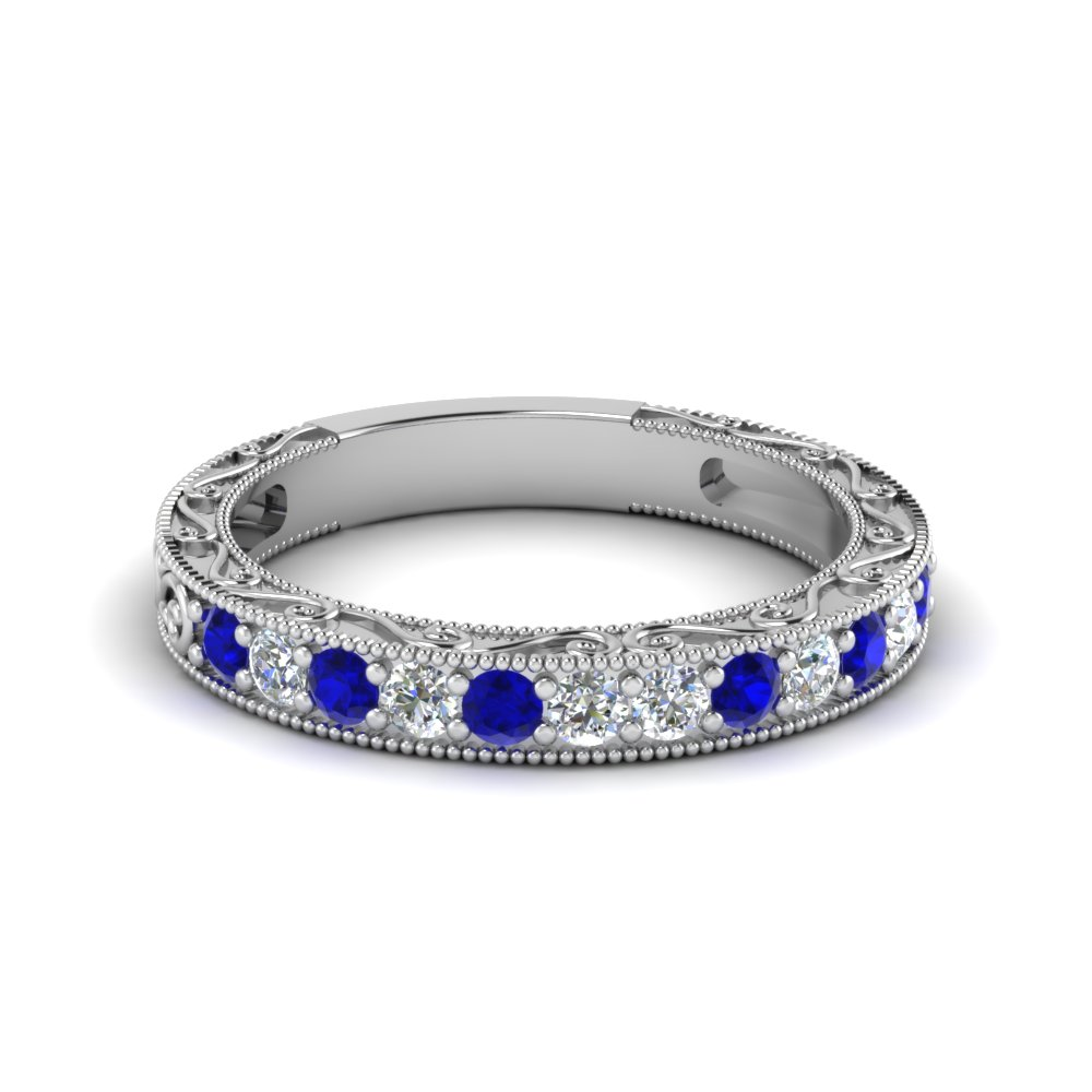 Vintage Pave Sapphire Women Band
