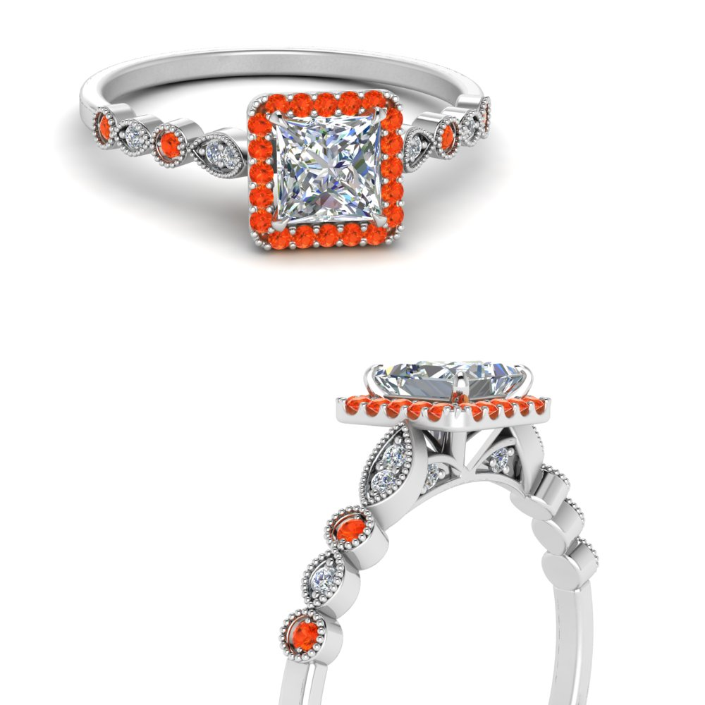 vintage-princess-cut-diamond-engagement-ring-with-orange-topaz-in-FD121599PRRGPOTOANGLE3-NL-WG