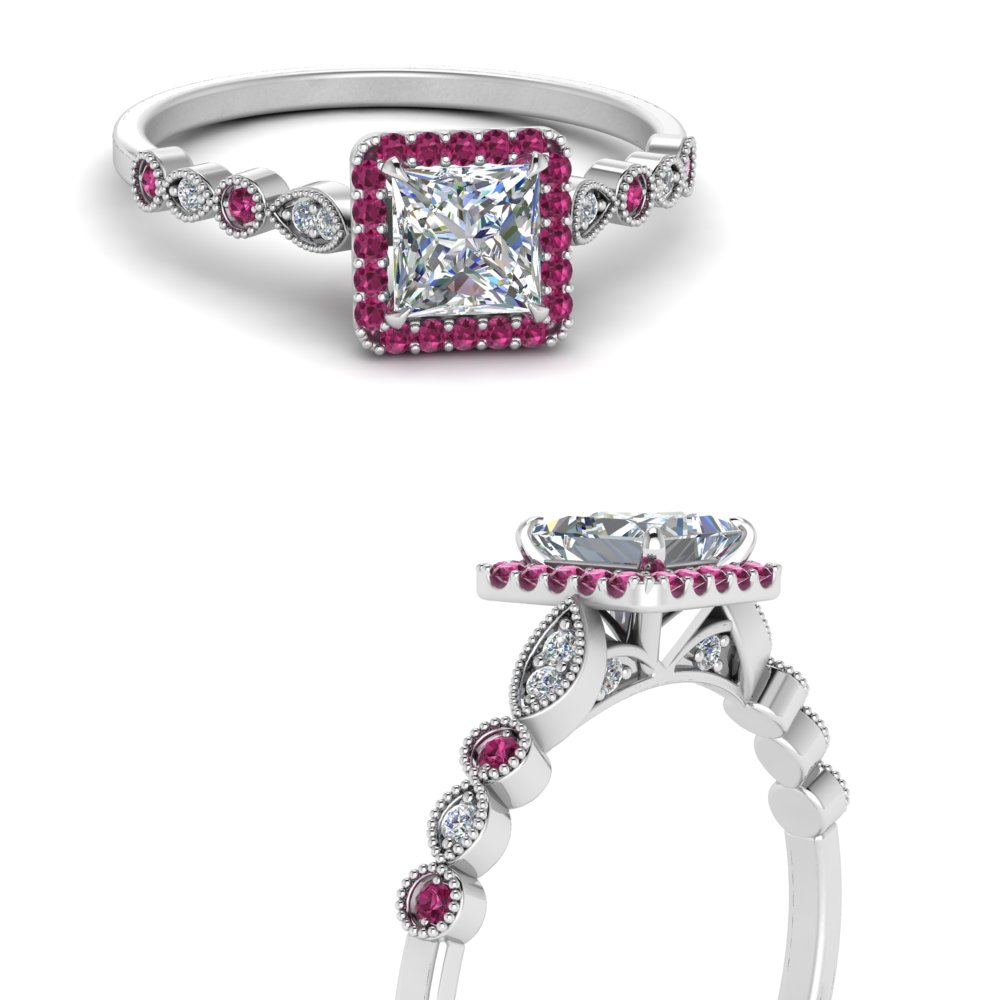 vintage-princess-cut-diamond-engagement-ring-with-pink-sapphire-in-FD121599PRRGSADRPIANGLE3-NL-WG