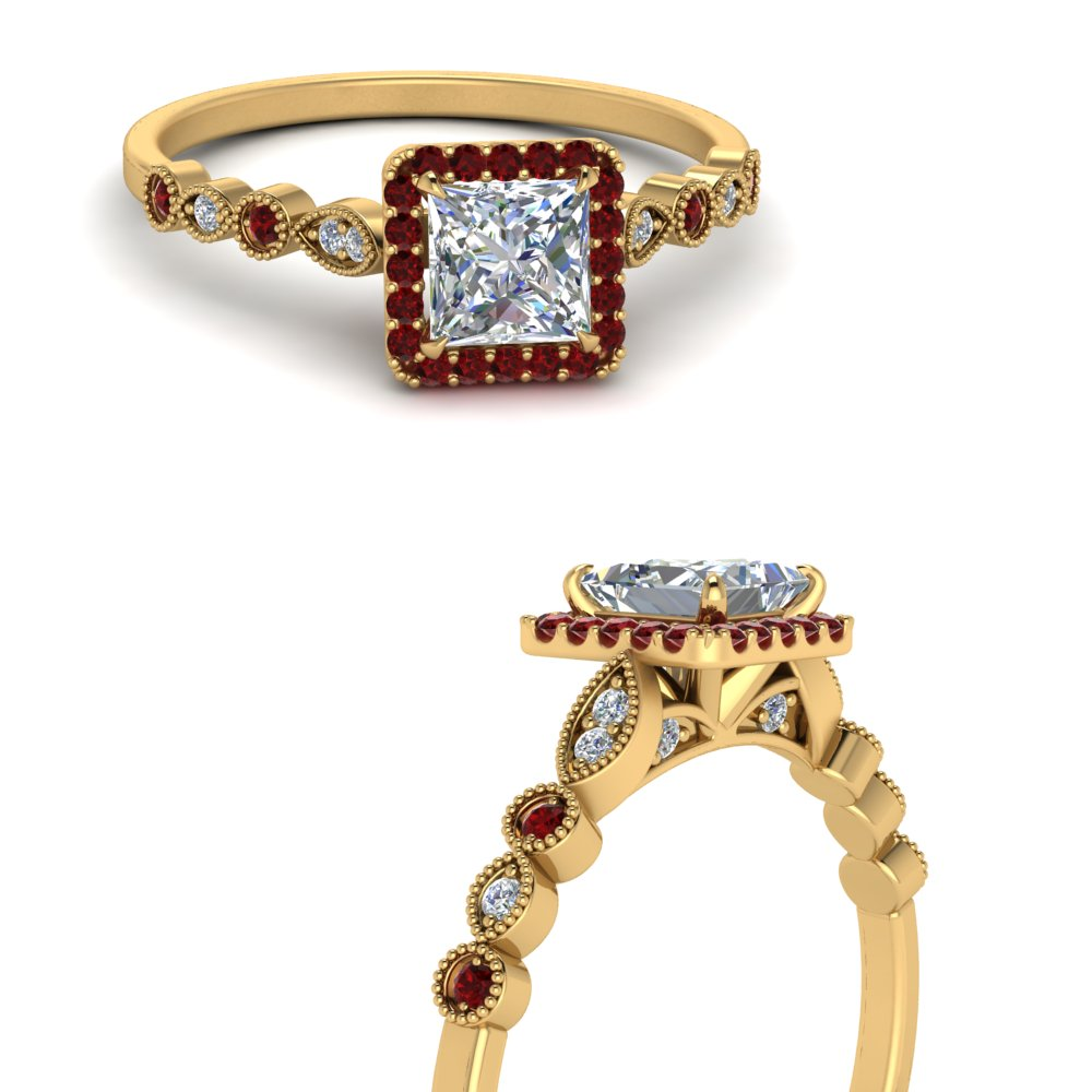 vintage-princess-cut-diamond-engagement-ring-with-ruby-in-FD121599PRRGRUDRANGLE3-NL-YG
