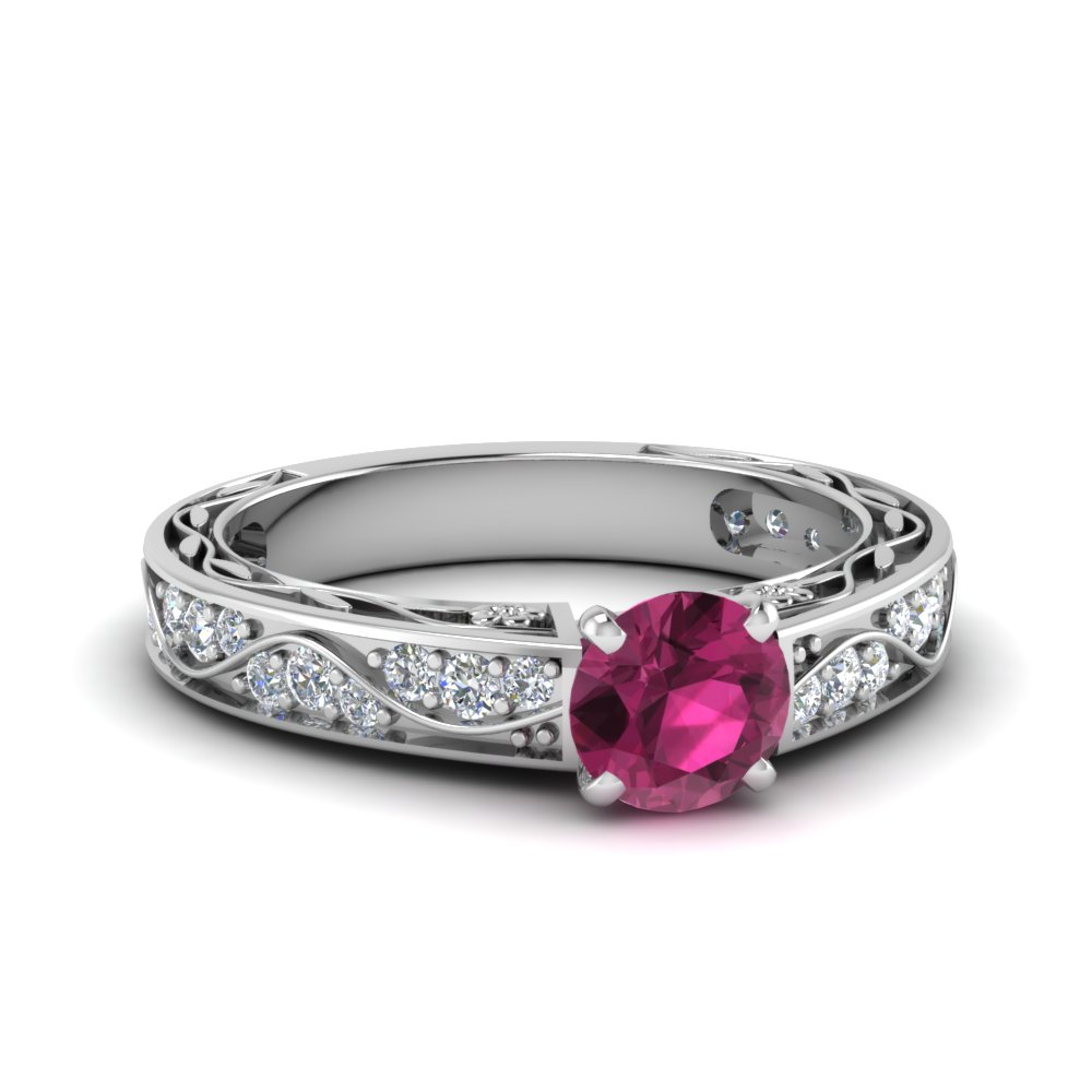 Vintage Pink Sapphire Ring