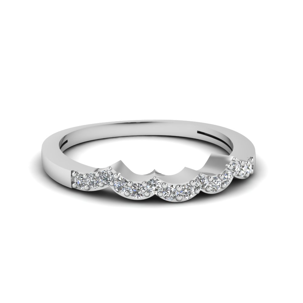Contoured White Gold Wedding Ring