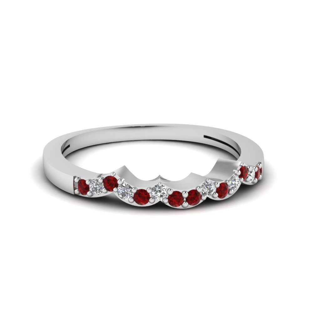 Wave Ruby Wedding Band