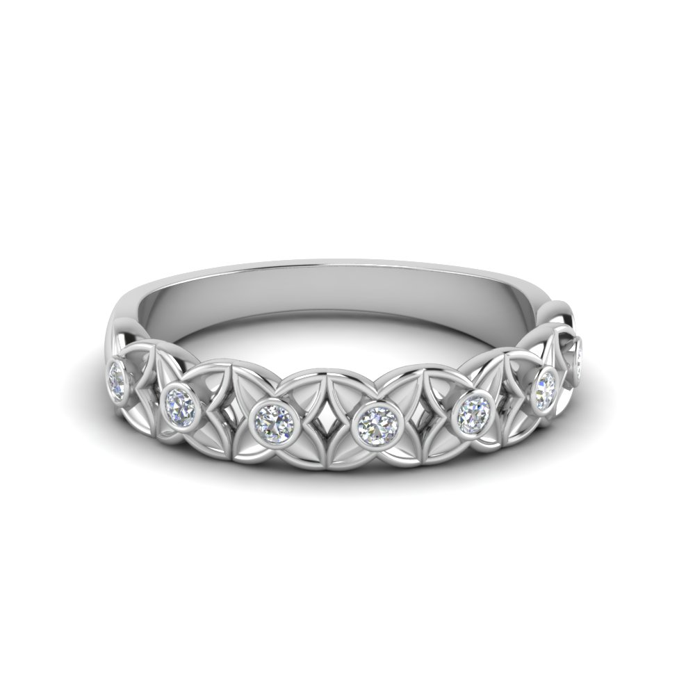 wedding band diamond in FD121955B NL WG