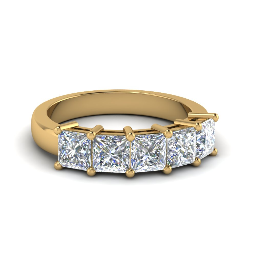 2.50 Ctw. Princess Cut Diamond Band