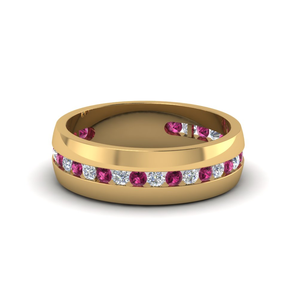 Get Inexpensive Pink Sapphire Mens Wedding Rings |Fascinating Diamonds