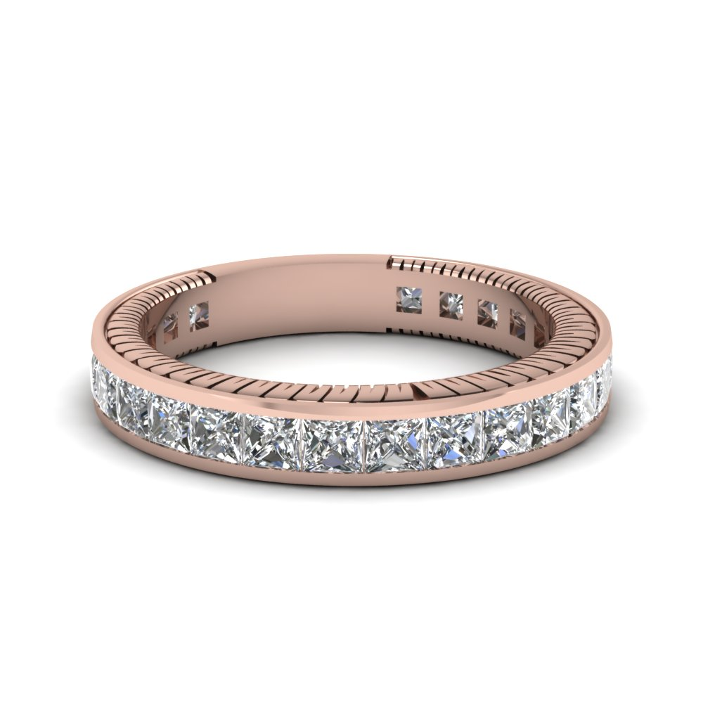 Princess Cut Diamond Vintage Band