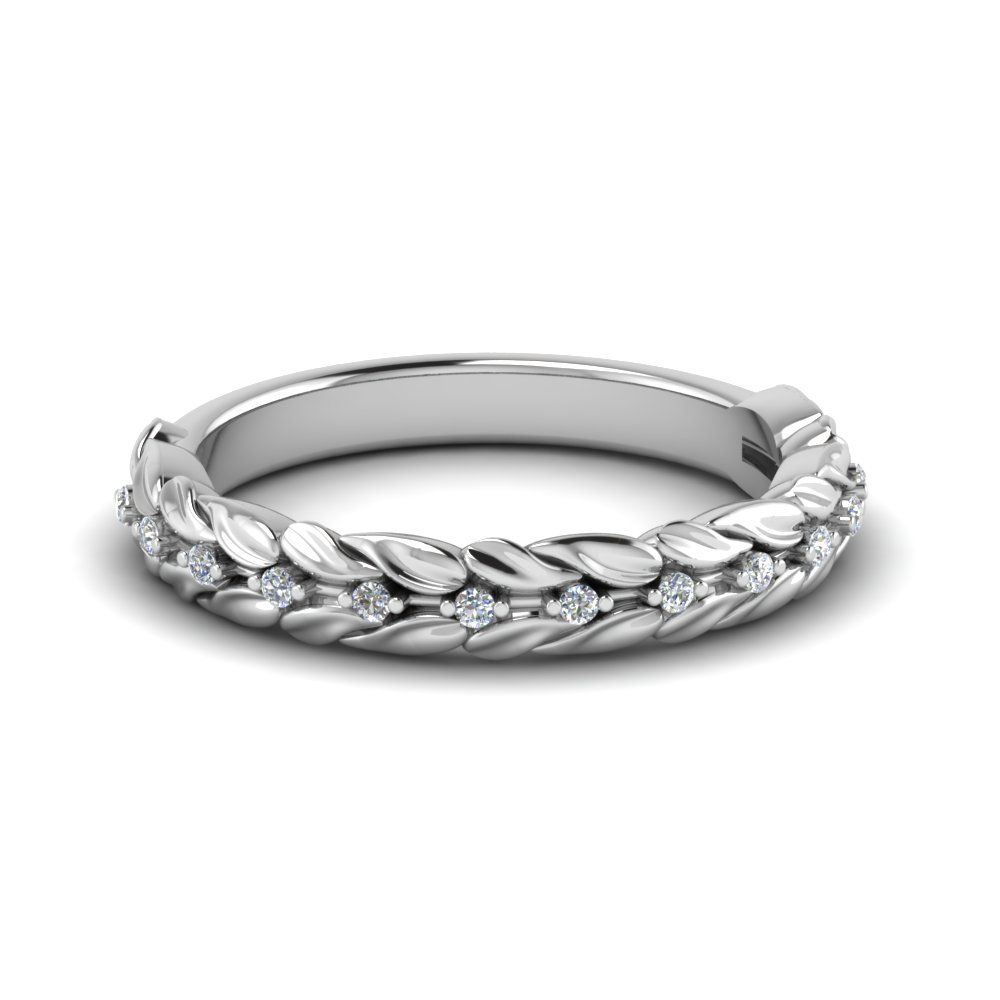 Nature Inspired Wedding Band