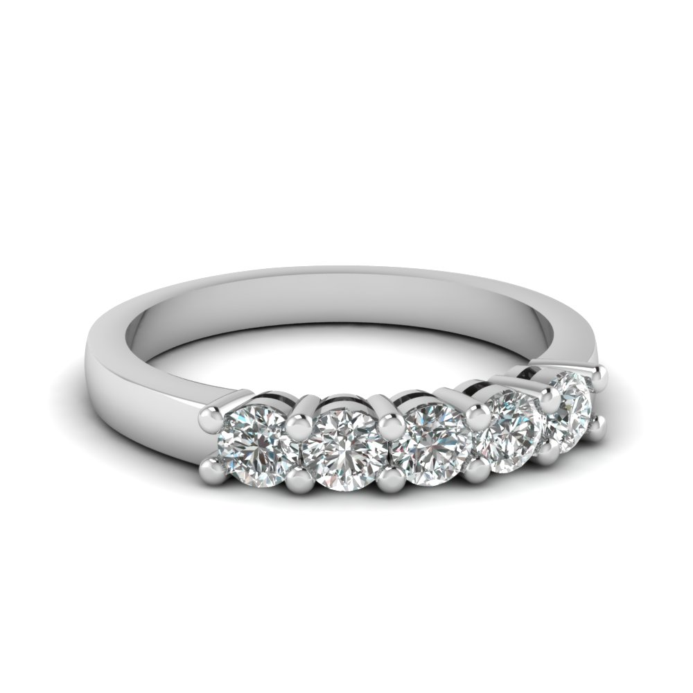 1.5 Ct. Five Stone Diamond Band