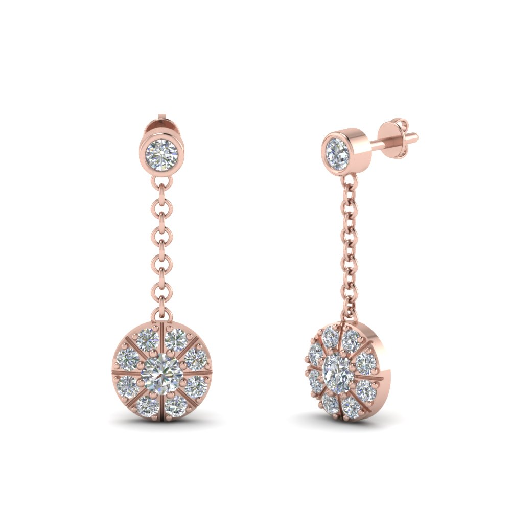 halo drop dangle diamond earring in FDEAR67096 NL RG