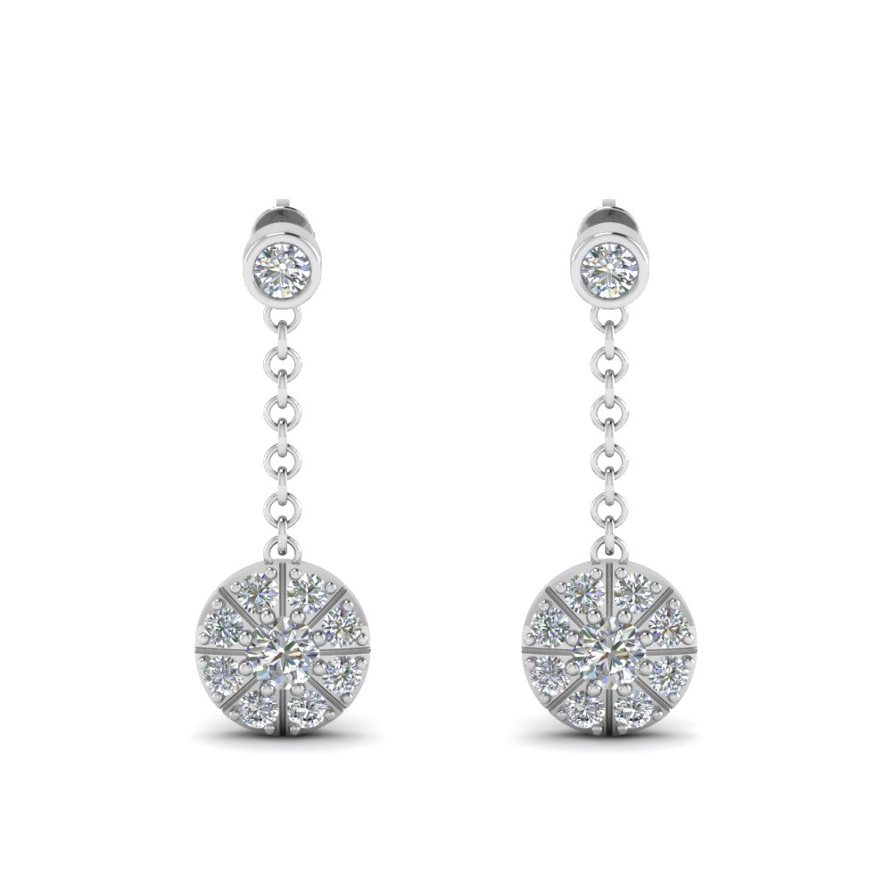 halo drop dangle diamond earring in FDEAR67096ANGLE1 NL WG