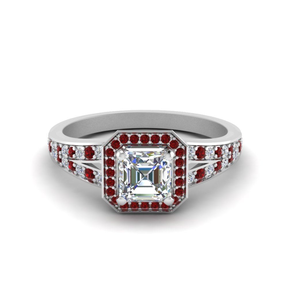 Accent Ruby Pave Set Ring