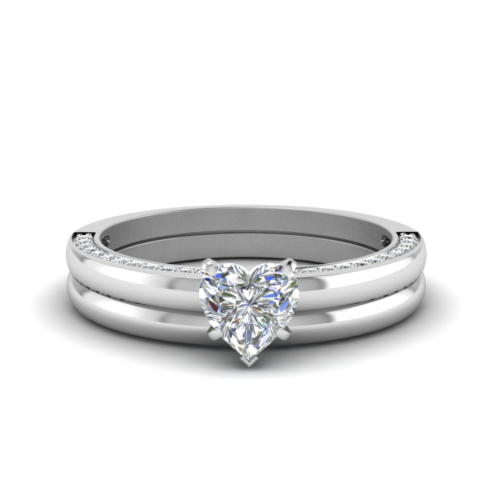 Heart Shaped Classic Wedding Set