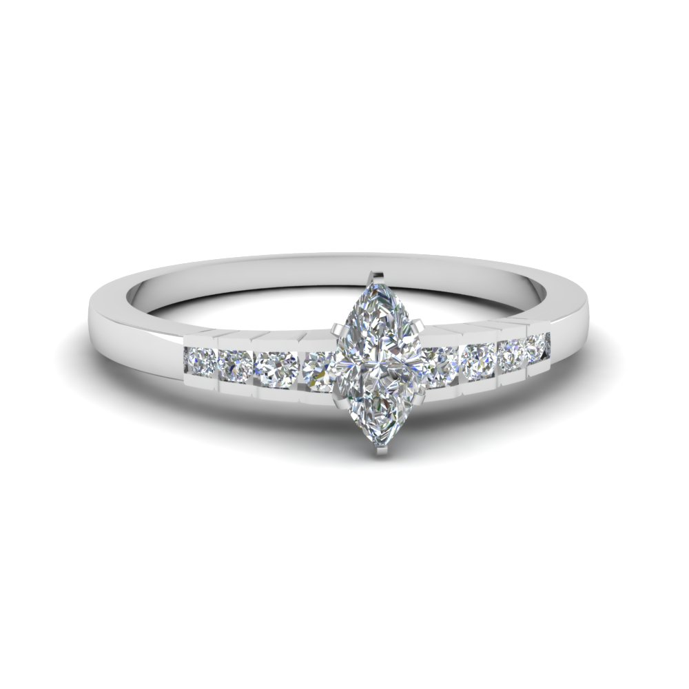 white gold marquise discounted diamond ring in FDENS3116MQR NL WG