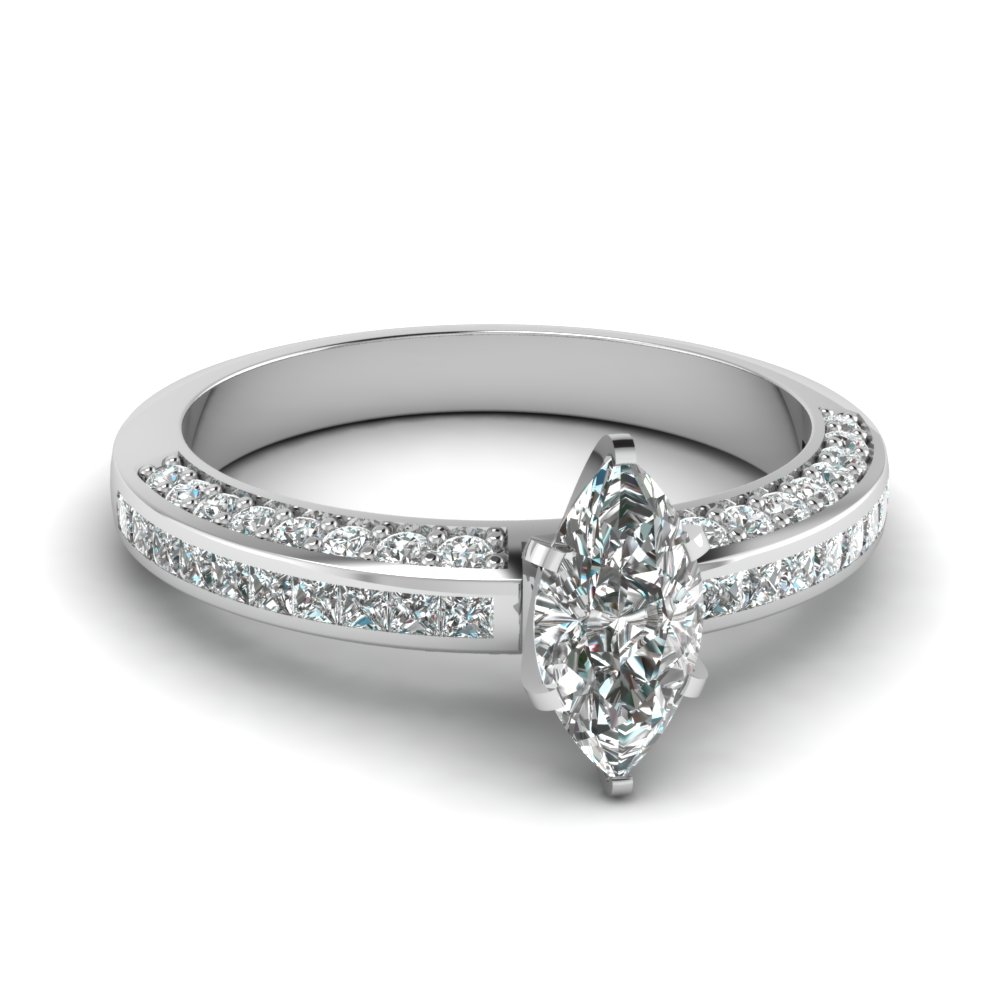 marquise shaped diamond accent engagement ring in FDENS3020MQR NL WG.jpg