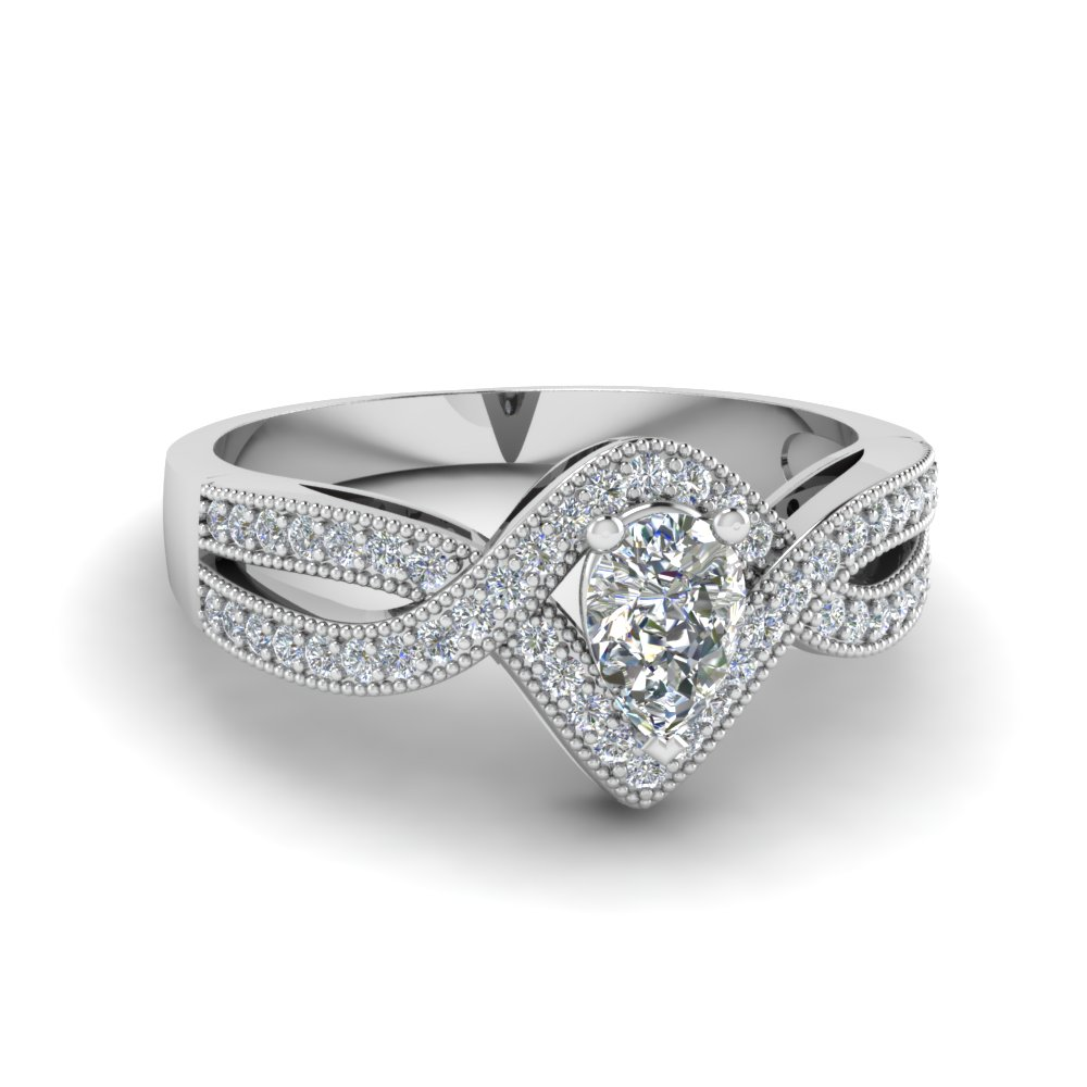 pear shaped vintage twisted diamond engagement ring in FDENR8319PER NL WG.jpg