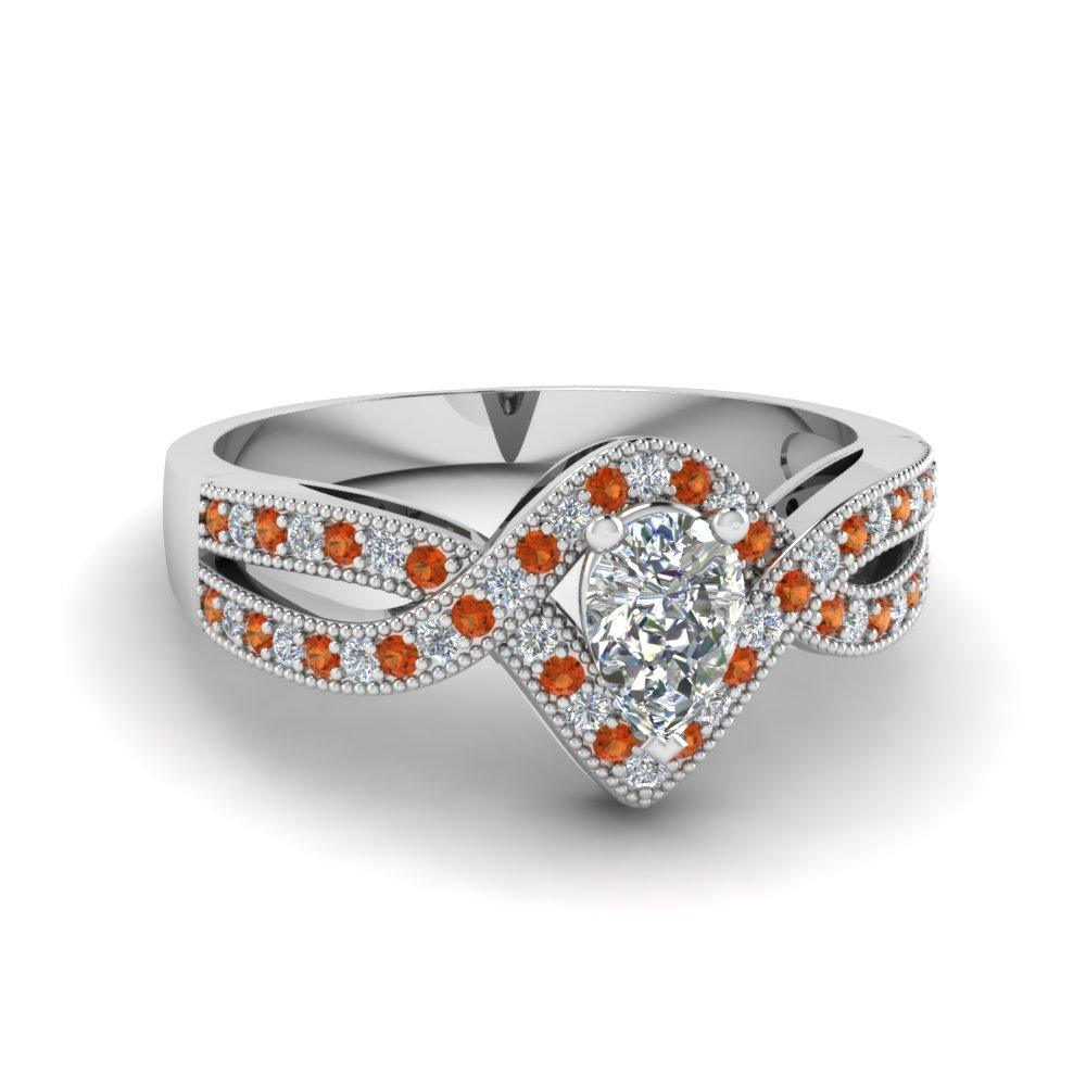 pear shaped vintage twisted diamond engagement ring with orange sapphire in FDENR8319PERGSAOR NL WG.jpg