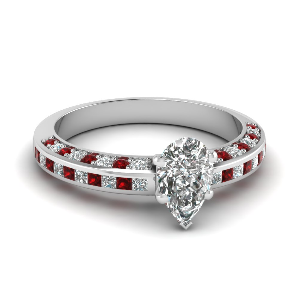pear shaped diamond accent engagement ring with ruby in FDENS3020PERGRUDR NL WG.jpg