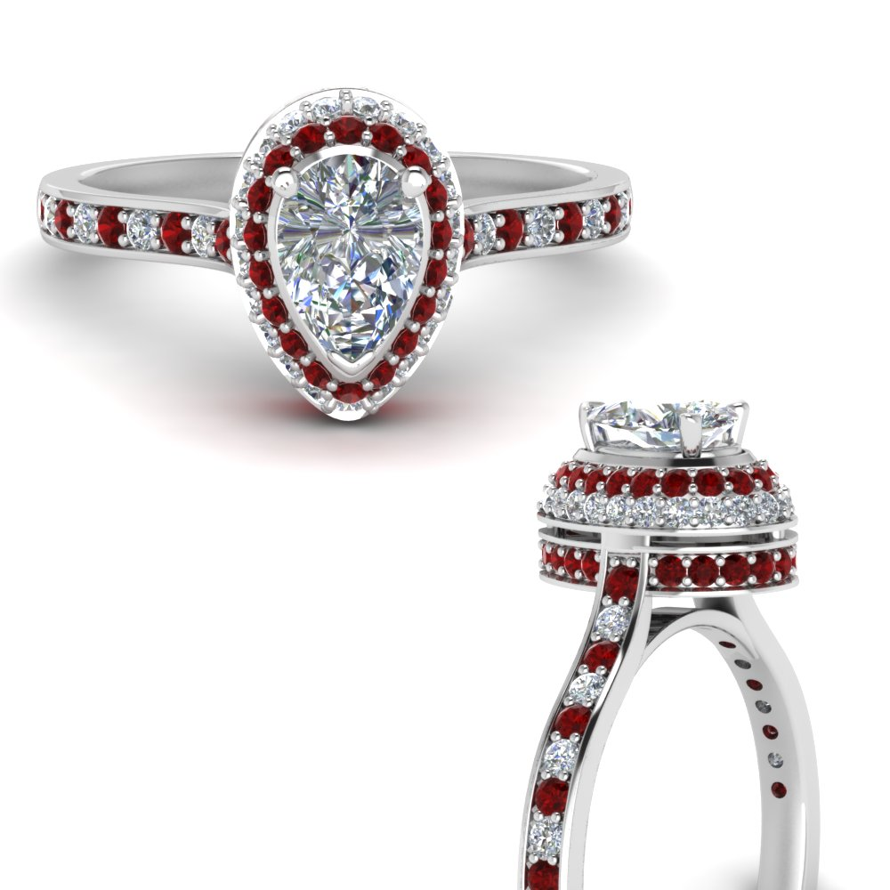 teardrop under halo high set diamond engagement ring with ruby in FDENS1692PERGRUDRANGLE3 NL WG.jpg