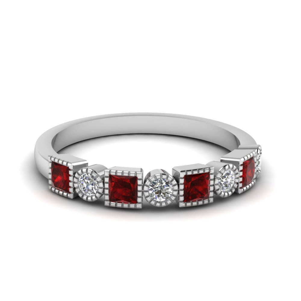 Ruby Stackable Wedding Band