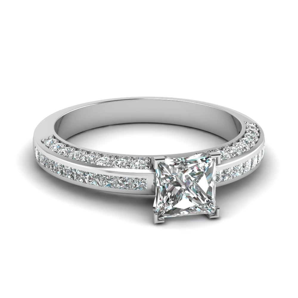 Princess Cut Diamond Accent Ring
