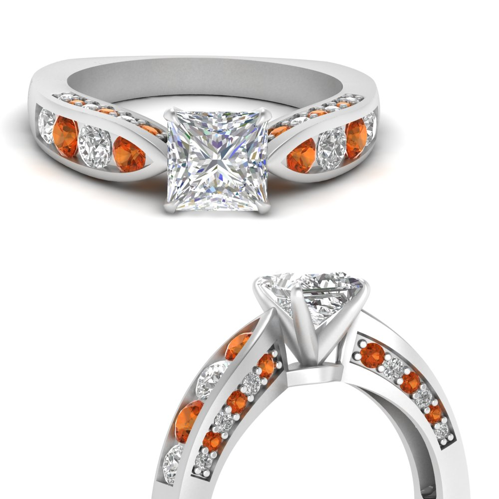 tapered-princess-cut-diamond-engagement-ring-with-orange-sapphire-in-FDENR2916PRRGSAORANGLE3-NL-WG