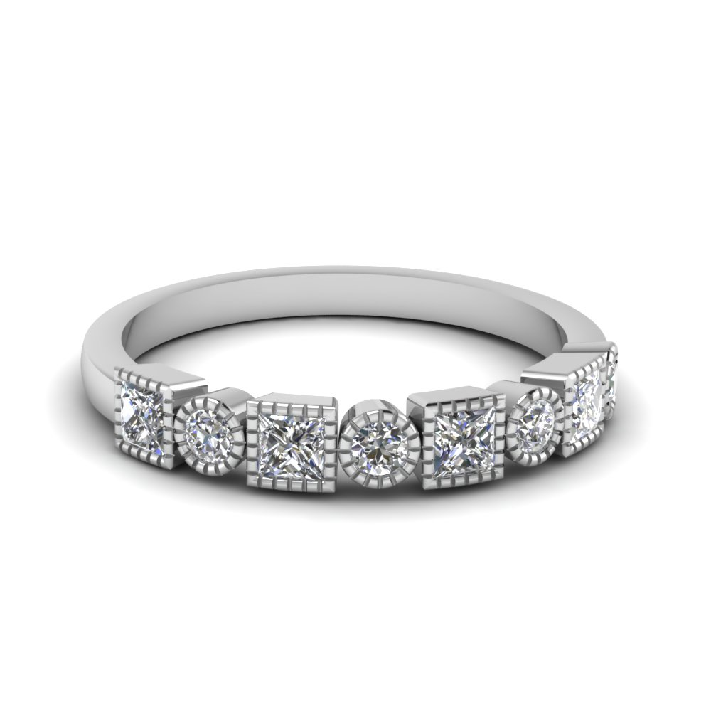 diamond art deco band in FD64626B NL WG