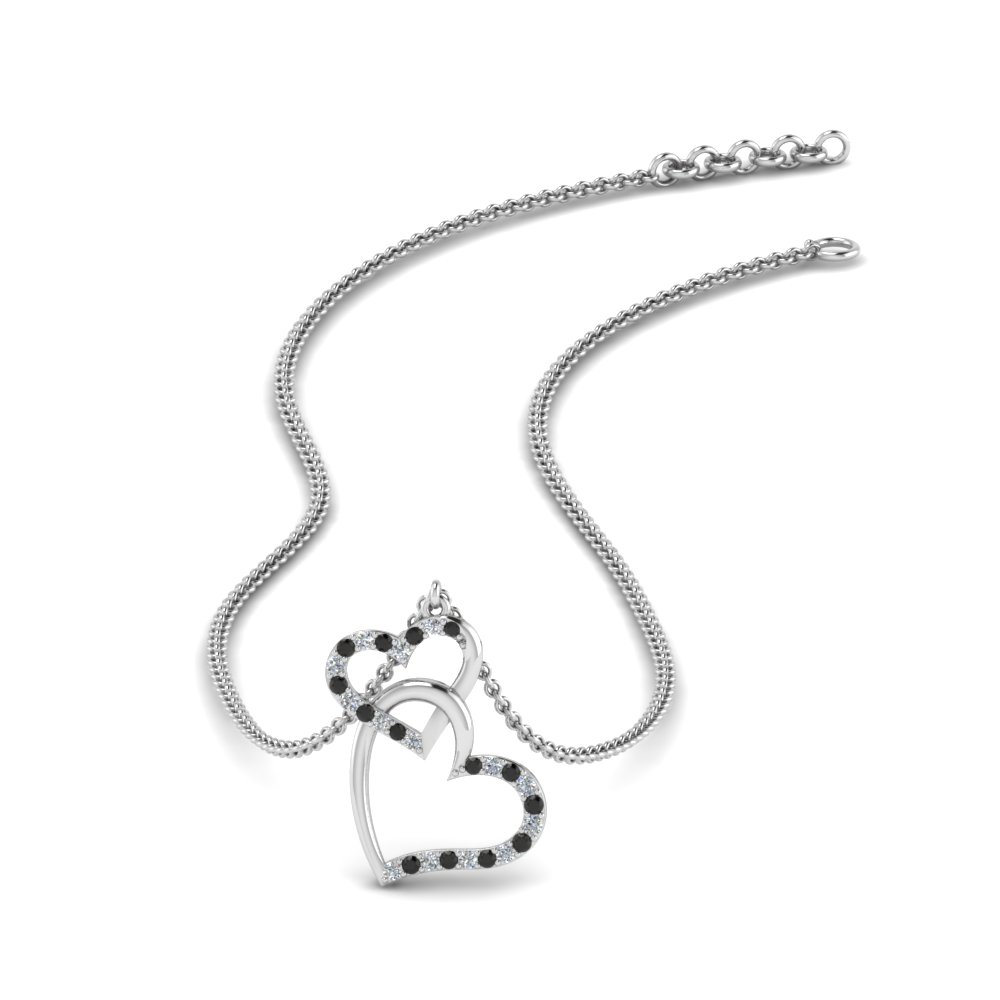 interlocked-heart-necklace-with-black-diamond-in-FDHPD328GBLACK-NL-WG