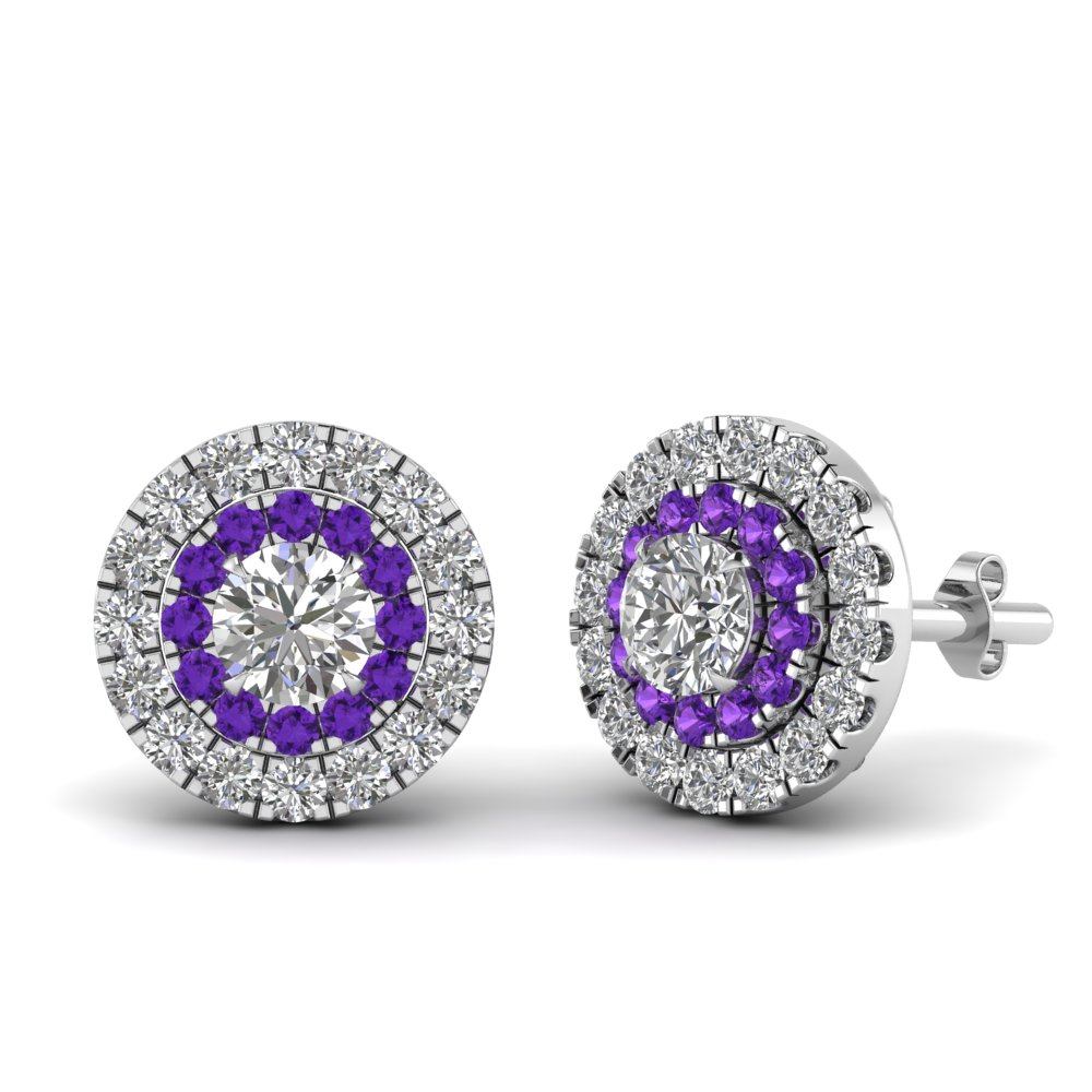 0.75-carat-diamond-halo-stud-earring-with-purple-topaz-in-FDEAR9249GVITO-NL-WG