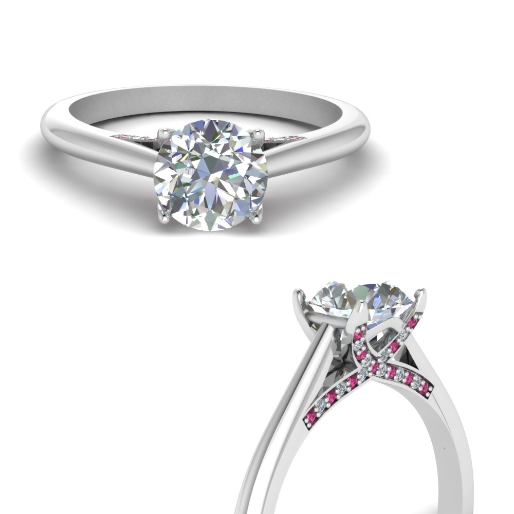 pave wrap cathedral diamond engagement ring setting with pink sapphire in FDENR9174RORGSADRPIANGLE3 NL WG.jpg