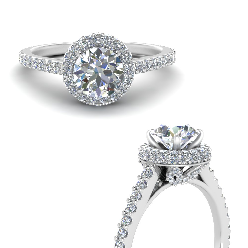 Prong Set Round Cut Diamond Ring