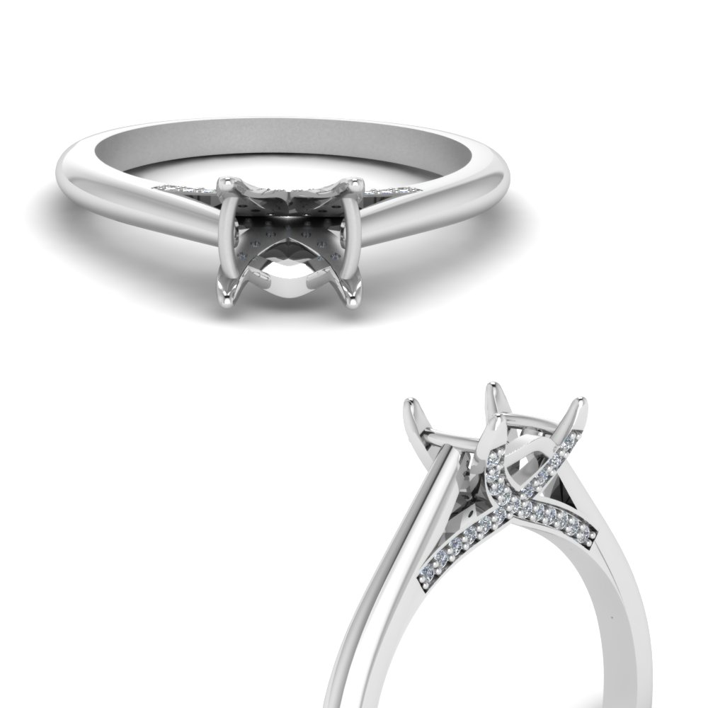 Pave Wrap Diamond Ring Setting
