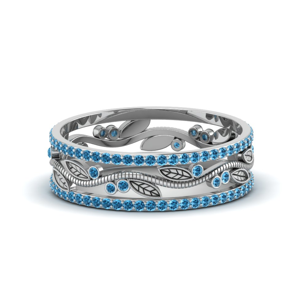 Wide Branch Blue Topaz Band