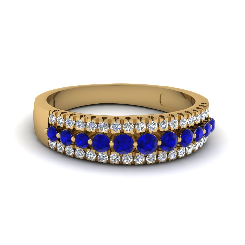 ring stone crescent center pin band ctw with sapphire halo round cost