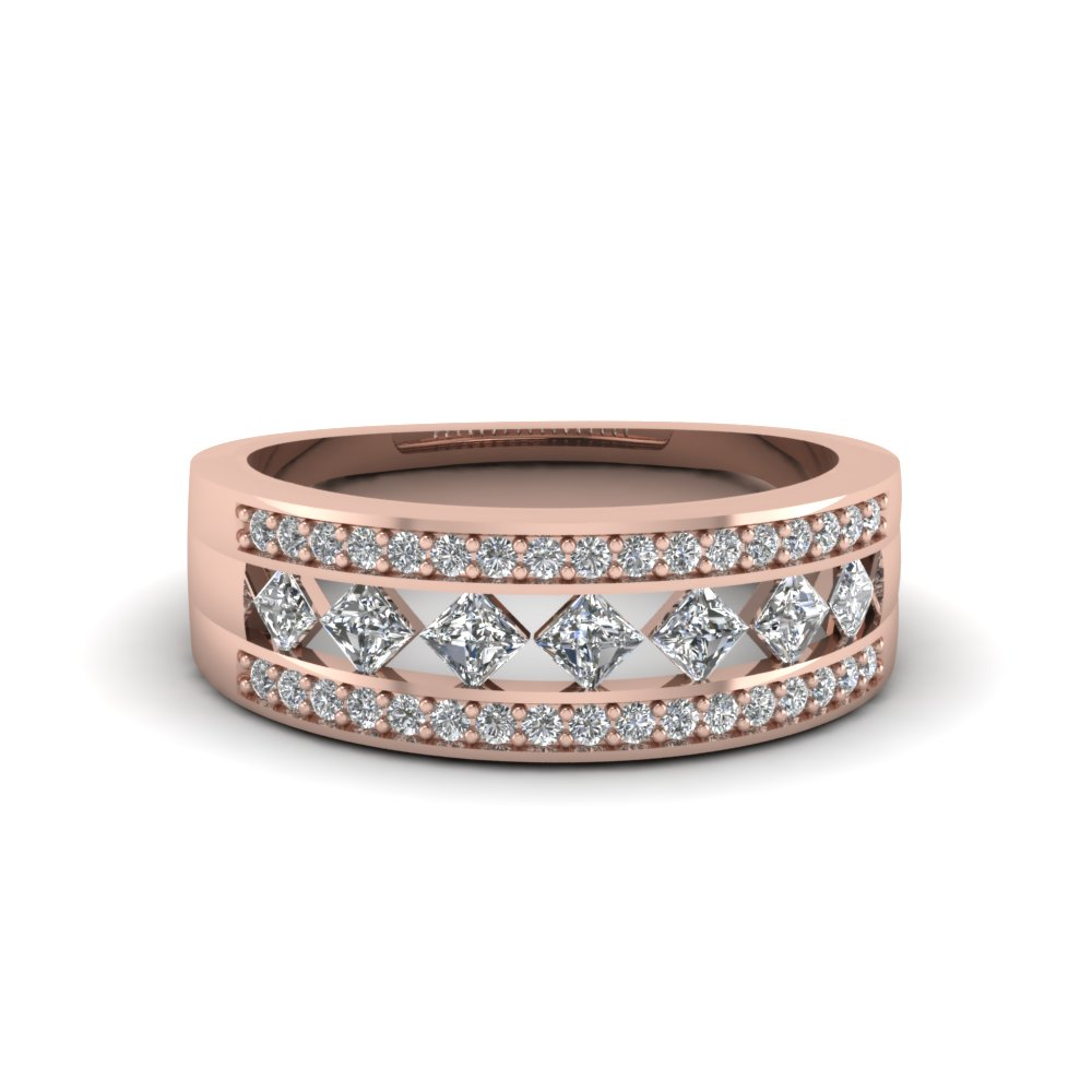 Wide Kite Set Diamond Band