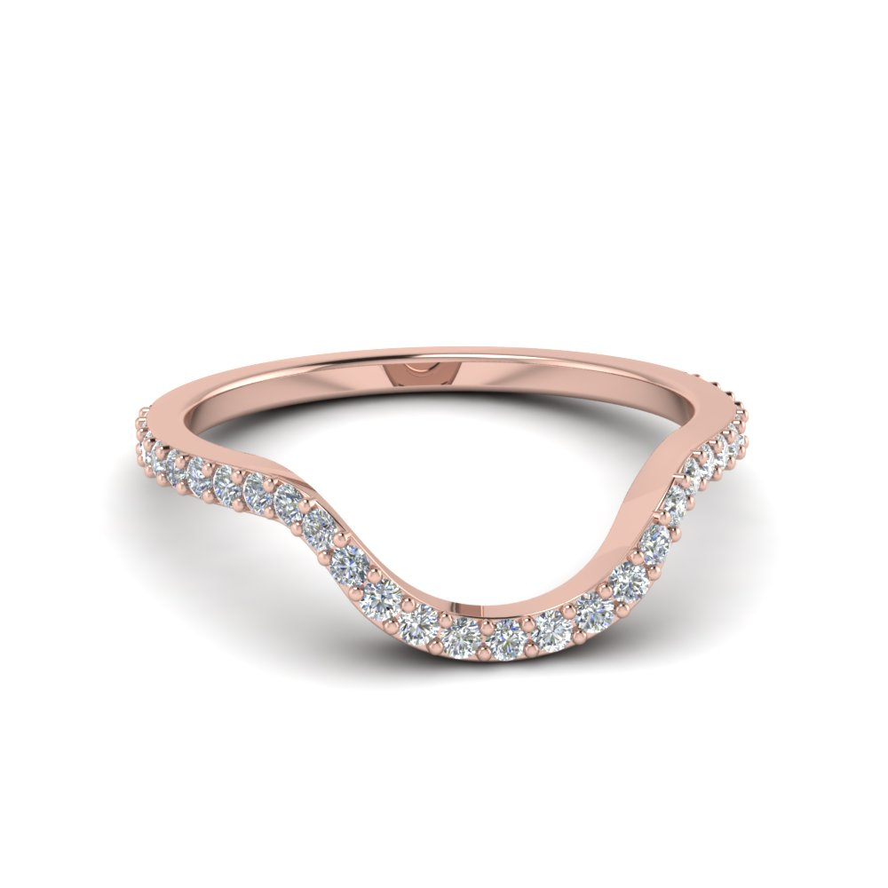 Women Diamond Curved Band