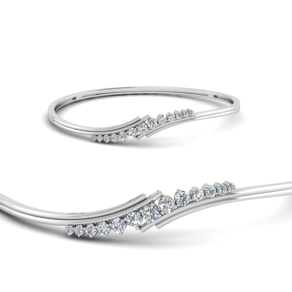 b1e26f3326000 Twist Diamond Thin Bracelet Bangle