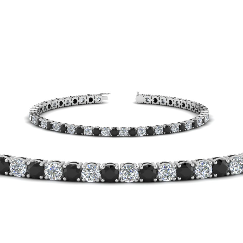 Womens Tennis Bracelet With Black Diamond 5 Carat