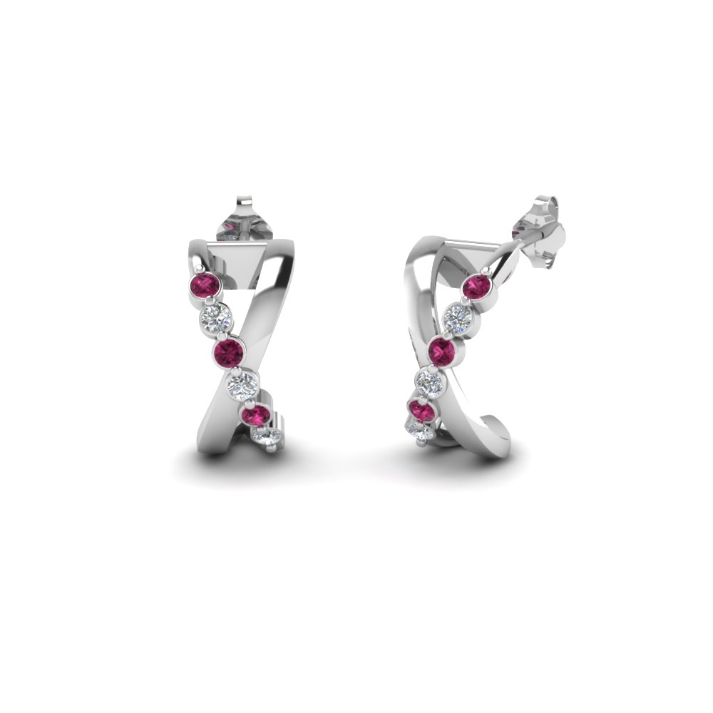 X Design Stud Earring