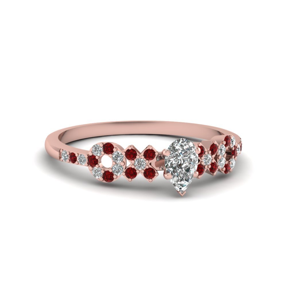 Affordable Ruby Wedding Rings For Women| Fascinating Diamonds